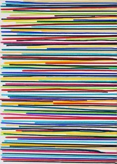 "Saatchi Art Artist Astrid Stoeppel; Painting, ""Colorful lines #8"" #art"