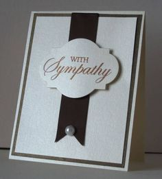 Clean Simple Sympathy Card