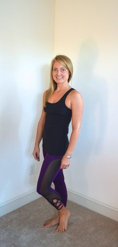 Kate Spade Activewear Top by Beyond Yoga with Dark Bloom Leggings from PopFlex Active