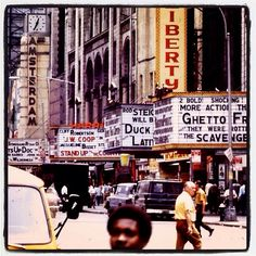 """42nd Street """"The Deuce"""" during its heyday, New York City"""
