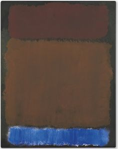 Mark Rothko, Untitled (Wine, Rust, Blue on Black), 1968Acrylic on paper laid down on board, 23 ¾ x 18 5/8 in. (60.3 x 47.3 cm.)