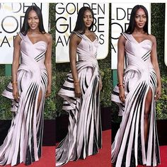 @iamnaomicampbell  YASSSS Naomi... you stay slaying.... black don't crack, slip, break, or fall off 🙌🏾🙌🏾  #naomicampbell #redcarpet #goldenglobes #versace #theladylovescouture