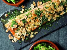 Trout with almonds recipe