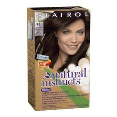Clairol Natural Instincts Hair Color 35, Ebony Mocha, Brown Black 1 Kit. #beauty, #skincare, #hair #color, #style