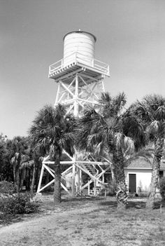 Water tower at the Cabbage Key Inn & Studio.