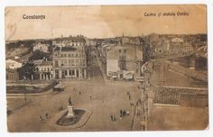 Constanta - Piata Ovidiu - 1927 Old Town, Old Photos, Vintage World Maps, Memories, Movie Posters, Littoral Zone, Romania, Old City, Old Pictures