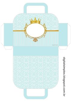 Golden Crown Celeste фонд: кутия с форма Куфар за Свободен печат.