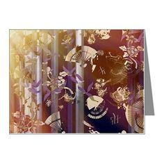 Vibrant Kimono Collage Note Cards on CafePress.com