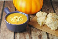 Pumpkin Soup by Jennifer Martinez...used pumpkin puree and then added squash as well
