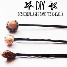 Coquillages dans les cheveux / Shells on pins with hair http://les-petites-crea.blogspot.fr/