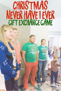 Christmas Never Have I Ever Gift Exchange Game - A group of people playing a Christmas Never Have I Ever game and reading Never Have I ever questions - Christmas Group Games, Christmas Gift Exchange Games, Xmas Games, Holiday Games, Christmas Activities, Family Christmas, Christmas Traditions, Holiday Fun, Christmas Holidays