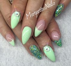Almond nails are popular for several seasons, usually are choice of young girls or sexy and brave woman.