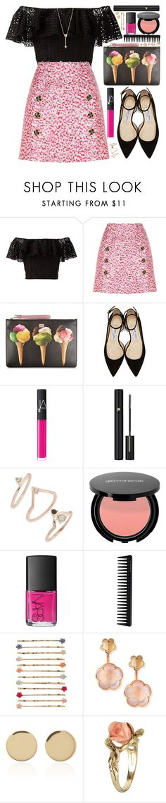 """""""#1106 Vicky"""" by blueberrylexie ❤ liked on Polyvore featuring Philosophy di Lorenzo Serafini, Dolce&Gabbana, Jimmy Choo, NARS Cosmetics, Lancôme, Topshop, GHD, LC Lauren Conrad, Pasquale Bruni and Magdalena Frackowiak"""