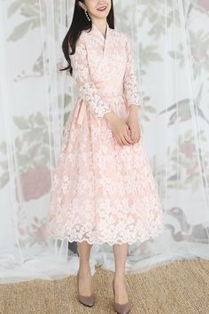 KOODING, an online Korean fashion & beauty shopping website, offers Romantic Holiday Dress for sale. Shop for women's latest fashion modern hanbok. Korean Dress, Korean Outfits, Modern Hanbok, Shopping Websites, Holiday Dresses, S Models, Latest Fashion For Women, Dresses For Sale, Korean Fashion