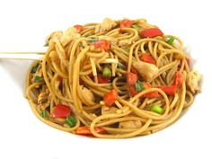 Heres a absolutely delicious dinner to make tonight! I love any kind of Asian noodle dish, especially a Thai one that includes peanut butter. Good news too: Peanut butter is heart healthy. It's very filling and satisfying when added to a noo