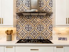 2021 interior-design trends: What's going out and what will be popular - Insider Green Cabinets, Grey Kitchen Cabinets, Kitchen Tiles, Kitchen Design, Grey Kitchen Interior, Interior Walls, Interior Design, Hearth Tiles, Handmade Tiles