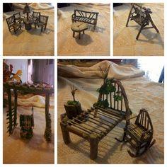 DIY fairy furniture, simple, I made these myself. DIY fairy furniture, simple, I made these myself. Mini Fairy Garden, Fairy Garden Houses, Diy Fairy House, Fairy Garden Doors, Fairies Garden, Fairy Crafts, Garden Crafts, Garden Ideas Homemade, Fairy Garden Furniture