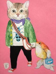 独特の世界観に惹きこまれる?!ダークかわいい猫を描く画家「ヒグチユウコ」がスゴイ‼ - NAVER まとめ