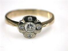 Floral Vintage Diamond Ring