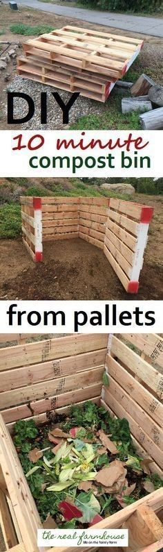 Aquaponics System - DIY 10 minute pallet compost bin. Quick and easy classy looking compost project Break-Through Organic Gardening Secret Grows You Up To 10 Times The Plants, In Half The Time, With Healthier Plants, While the Fish Do All the Work... And Yet... Your Plants Grow Abundantly, Taste Amazing, and Are Extremely Healthy
