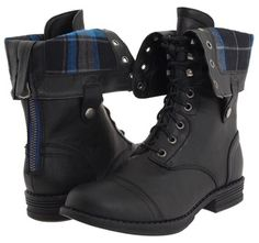 Combat boots keep ya from slippin'. Pick up this pair of Madden Girl Zorrba boots for $70 on zappos.com