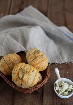 So there are hasselback potatoes, hasselback rolls, is there a hasselback chicken to go with? That could all make for one yummy dinner [: