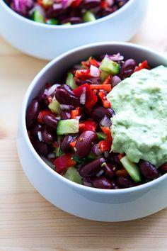 Mexicansk salat med bønner