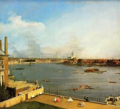 """Canaletto """"The Thames and the City of London from Richmond House"""""""