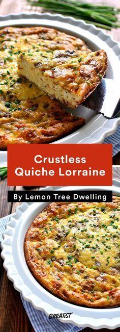 1. Crustless Quiche Lorraine #greatist http://greatist.com/eat/crustless-quiche-recipes