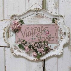 Serving tray wall hanging shabby cottage chic painted 'vintage rose' plaque roses millinery flower embellished sign decor anita spero design - Ornate platter hand painted sign wall hanging by AnitaSperoDesign - Cottage Shabby Chic, Cocina Shabby Chic, Muebles Shabby Chic, Shabby Chic Mode, Style Shabby Chic, Shabby Chic Crafts, Shabby Chic Kitchen, Shabby Chic Decor, Rose Cottage