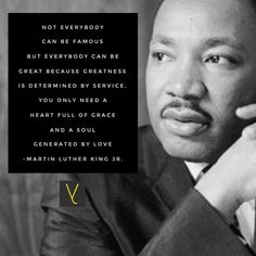 Not everybody can be famous but everybody can be great because greatness is determined by service. You only need a heart full of grace and a soul generated by love. - Dr. Martin Luther King Jr.  #everythingtheydid #leadership #leader #leaders #worldchangers #societyrebel #traits #qualities #trendsetters #influencer #boss #career #innovative #servantleader #entrepreneur  #focus #confidence #successful #challenge #action #attitude #motivation #development #leaderquotes #inspiration #wisdom…