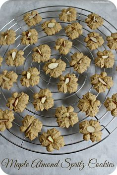 These Maple Almond Spritz Cookies from CookingInStilettos.com are one of those treats that remind you of having cookies at Grandma's. Nostalgic with loads of maple flavor woven throughout, these Maple Almond Spritz Cookies are sure to be a much loved family recipe #OXOGoodCookie