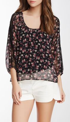 Lush Lace Detail Boho Blouse