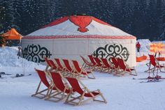 Winter yurt, Istebna, Poland