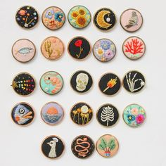 All the pins🙌🏻 Shop is closed until further notice🍉 I'll focus on creating some new stuff and i'll still be working on the current orders✌🏻 Hand Embroidery Stitches, Embroidery Patches, Embroidery Hoop Art, Cross Stitch Embroidery, Embroidery Designs, Cross Stitch Fairy, Embroidery Jewelry, Cross Stitching, Handicraft