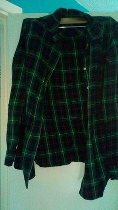 b955f82b0 Dark green checkered shirt gap - vinted.co.uk