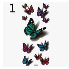 New digital printing tattoo stickers cartoon butterfly flower tattoo stickers custom 60 waterproof tattoo stickers Purple Butterfly, Butterfly Pattern, Butterfly Flowers, Butterfly Pictures, Beautiful Butterflies, Beautiful Flowers, 3d Butterfly Tattoo, Cartoon Butterfly, Butterfly Wall