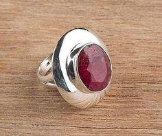 92.5 Sterling Silver 42.5ct Ruby Ring BJR8029 from Edelsteinschmuck by DaWanda.com