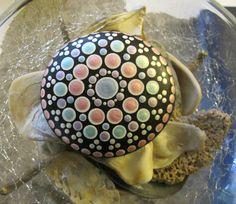 """Mandala ~ Energy ~ Meditation Stone """"EMILY""""  - Hand Painted River Stone Rock by WrenStones on Etsy"""