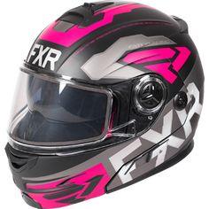 FXR Fuel Modular Evo Snowmobile Helmet w/Electric Shield Snowmobile Helmets, Snowmobile Clothing, Air Ventilation System, Pink Helmet, Bad Boy Style, Boy Fashion, Mens Fashion, Types Of Jackets, Evo