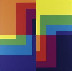 Carlo Vivarelli - No 12, 1976, acrylic on canvas 125 x 125 cm