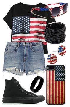 """Don't Wanna Be An American Idiot (Song By Green Day)"" by arithegeek11 ❤ liked on Polyvore featuring Chicnova Fashion, Alexander Wang, Converse, OtterBox, Saachi and West Coast Jewelry"