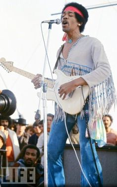 Jimi Hendrix at Woodstock...I would give my left leg to go back and experience this. -BS