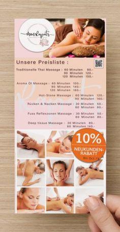Überprüfen Sie Ihr Design Thai Massage, Event Ticket, Hot, Design, Price List