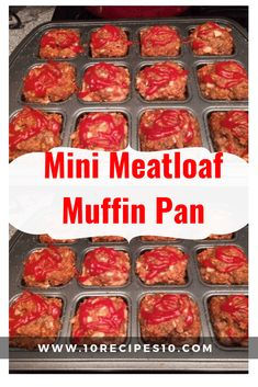 Mini Meatloaf Muffin Pan – - Recipes for dinner easy - Meatloaf Mini Meatloaf Muffins, Mini Meatloaf Recipes, Easy Meatloaf, Beef Recipes, Cooking Recipes, Meatloaf In Muffin Tin, Chicken Meatloaf, Yummy Recipes, Pastries
