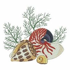 Seashells 4, 2 - 4x4 | What's New | Machine Embroidery Designs | SWAKembroidery.com Ace Points Embroidery