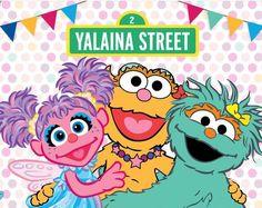 Banner Backdrop, Diy Banner, Birthday Backdrop, Twin Birthday, Birthday Ideas, Abby Cadabby, Sesame Street Party, Backdrops For Parties, Rainbow