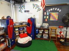 Reading Locker Room- Sports themed classroom by Mr.Knepp