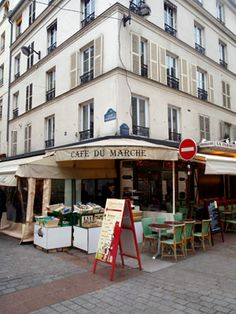 Cafe du Marche on Rue Cler in Paris.  Amazing breakfasts and wonderful coffee.