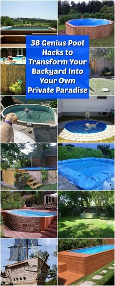 38 Genius Pool Hacks To Transform Your Backyard Into Your Own Private  Paradise Via @vanessacrafting